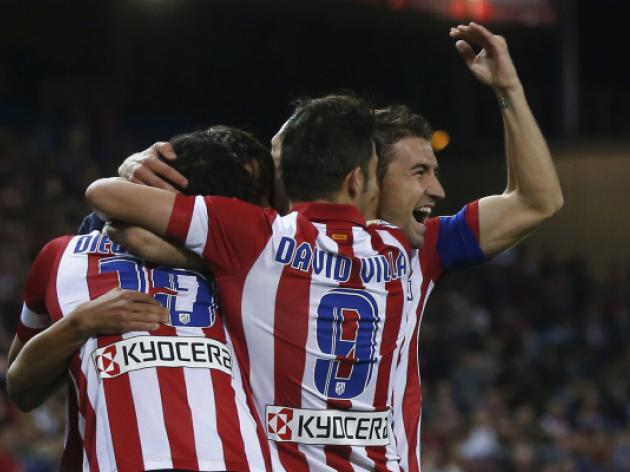 Villa double helps Atletico close in on Barca