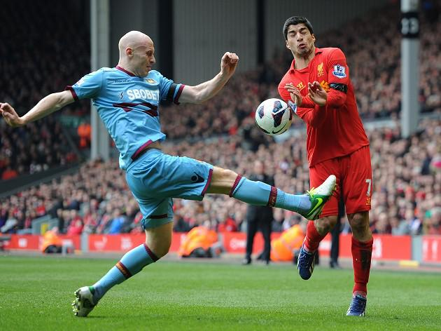 Controlling Luis Suarez key for West Ham defender James Collins