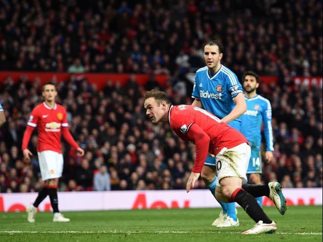 Rooney strikes to lift United gloom