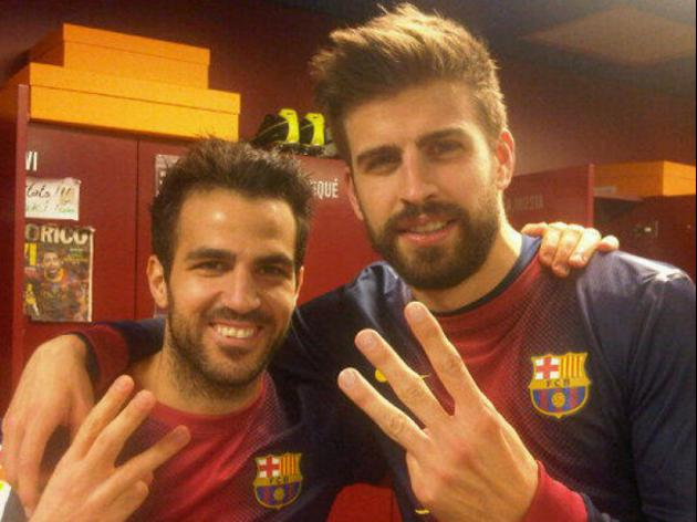 Pique reveals Fabregas is leaving Barcelona on Spanish Tv