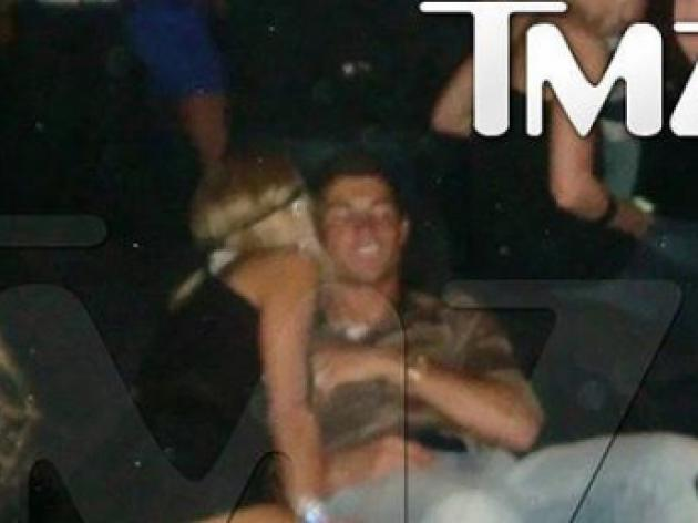 Cristiano Ronaldo celebrates Real Madrid move with Paris Hilton