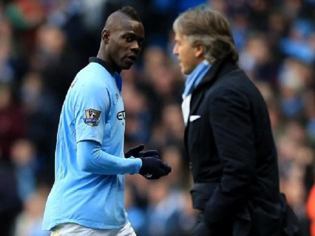 Manchester City boss Mancini in training ground bust up with Balotelli