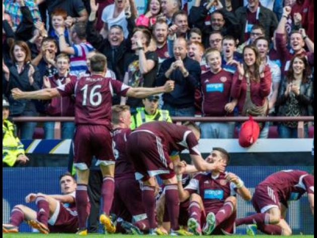 Paterson double earns Hearts derby win