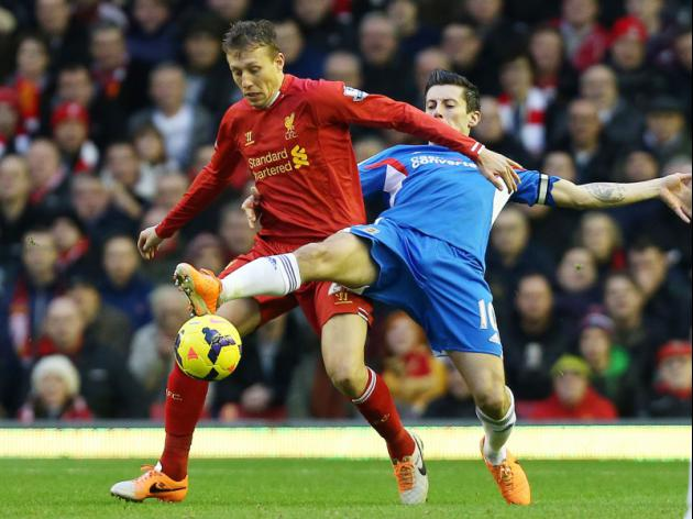 Liverpool ready to listen to offers for Lucas Leiva with Napoli and Inter Milan keen