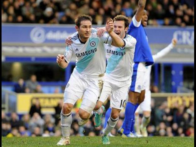 Everton 1-2 Chelsea: Report