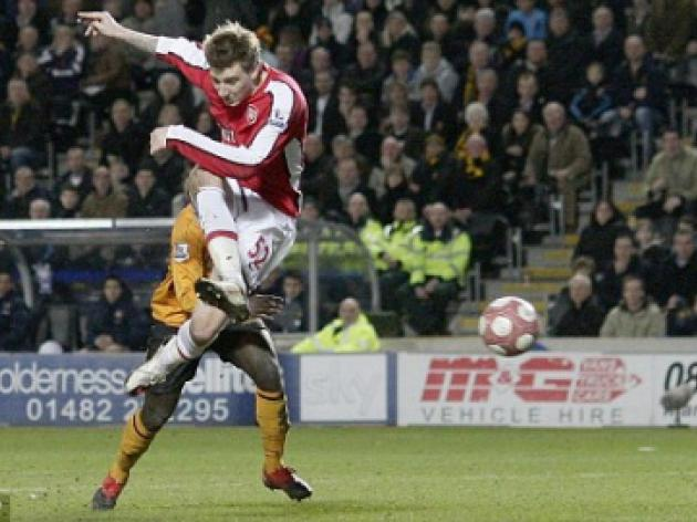 Hull 1 Arsenal 2: It's one in the eye for City and one in the eye for Bendtner