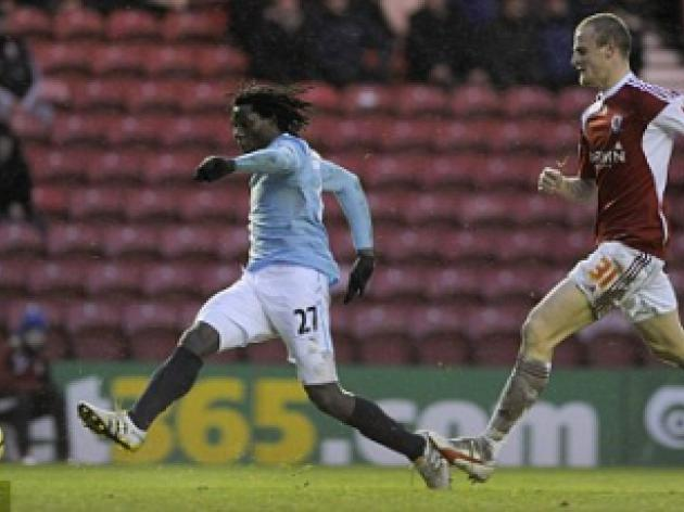 Middlesbrough 0 Man City 1: Benjani strikes to send City into fourth round
