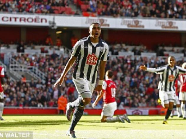 West Bromwich's Jerome Thomas says standards have dropped at Arsenal