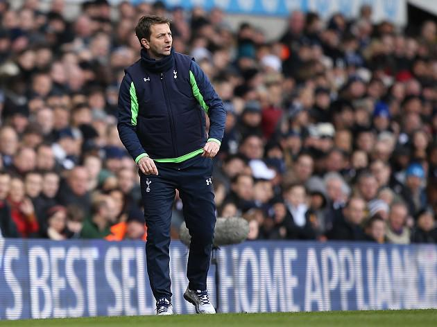 Sherwood looks up as Pardew suffers