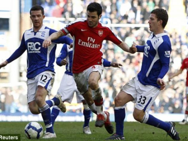 Birmingham's Craig Gardner denies trying to hurt Cesc Fabregas