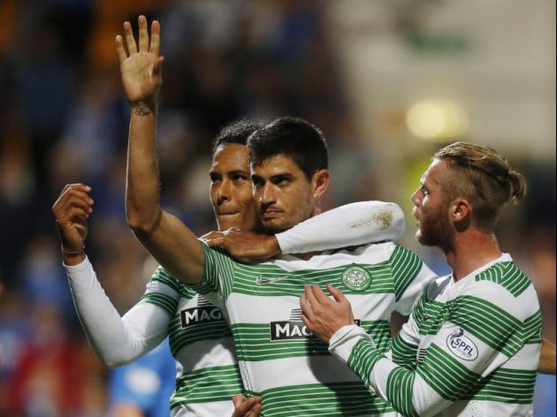 Celtic start title defence with win over 10-man Saints