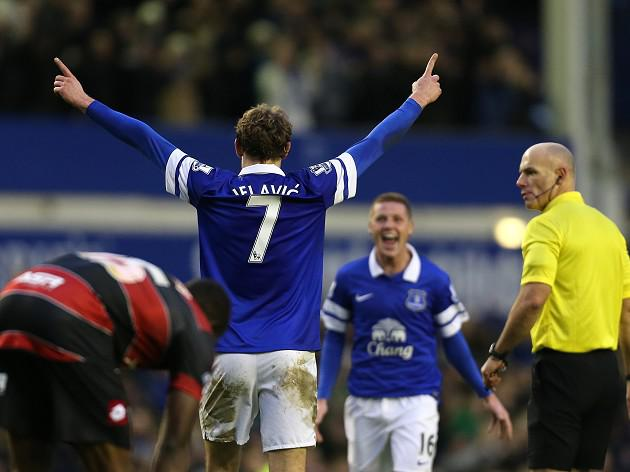Jelavic brace caps Toffees win