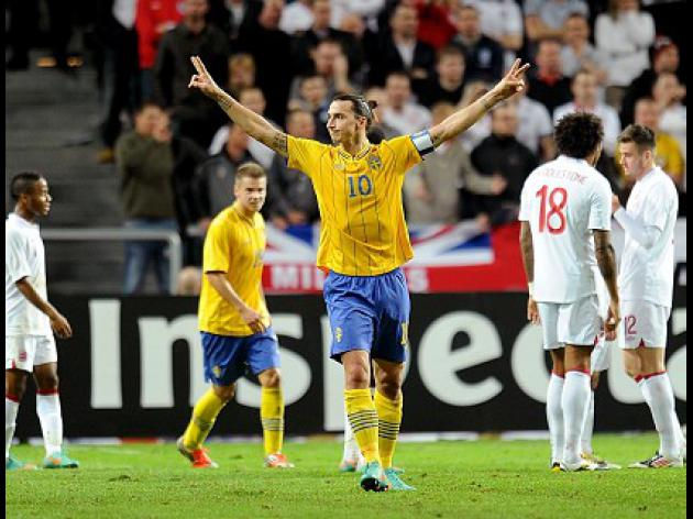 Four-star Ibrahimovic sinks England