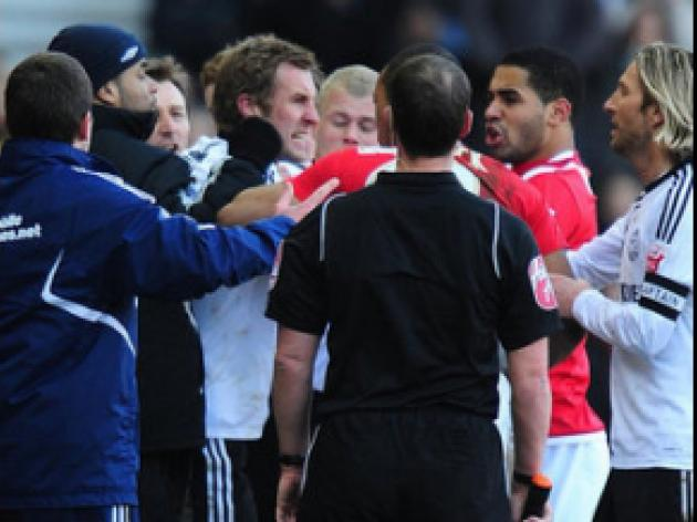 Derby and Forest fined for melee