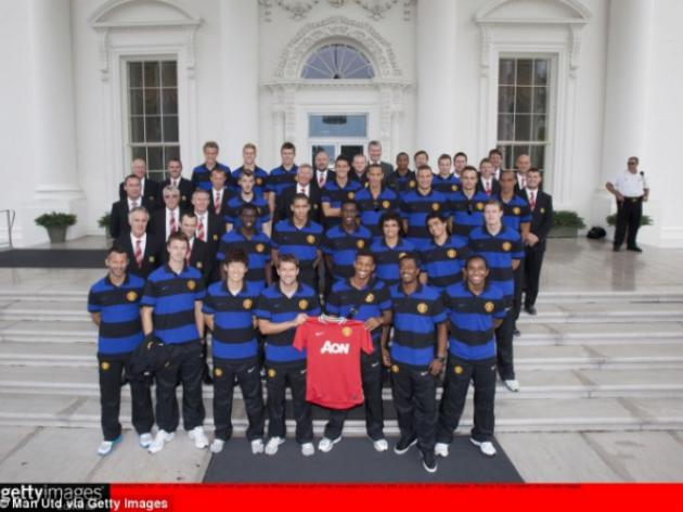 Manchester United visit the White House