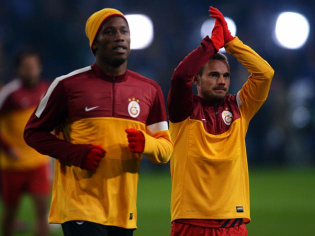 Drogba  Sneider feature as Galatasaray cruise to 3-0 win against Shrewsbury