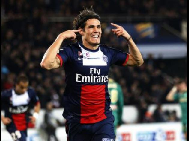 Cavani double eliminates holders St Etienne