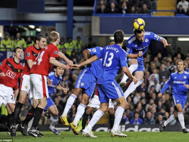 Chelsea 1 Man United 0: Terry lands title blow as champions are floored