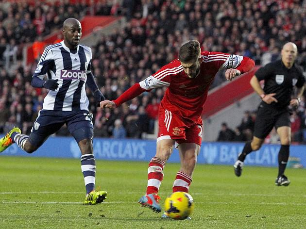 Lallana strike sinks Baggies