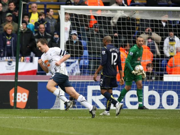 Bolton Wanderers 1 Tottenham Hotspur 1 - Match Report