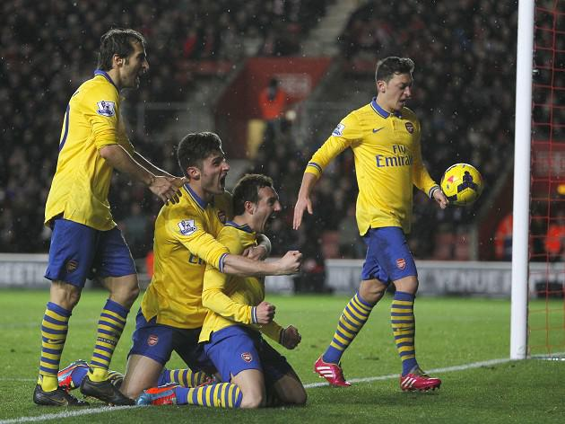Southampton 2-2 Arsenal: Match Report