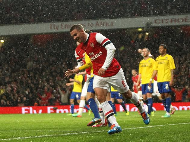 Podolski lifted by two-goal display
