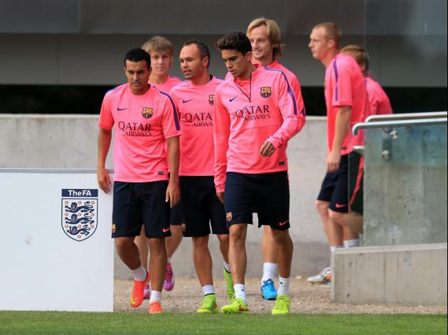 Barca train at St George's Park