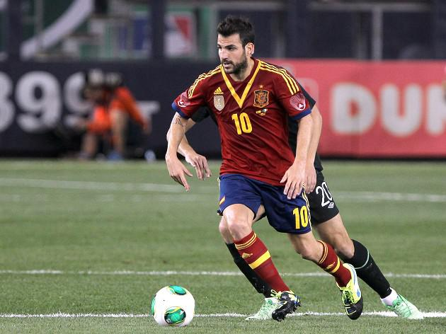 Fabregas out of Spain friendlies