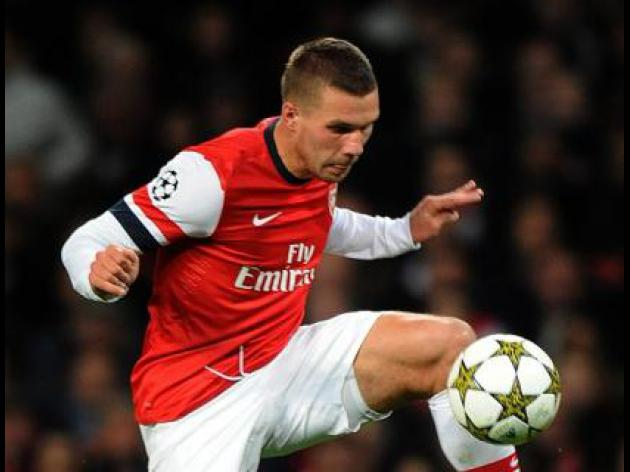 Podolski sidelined by hamstring injury