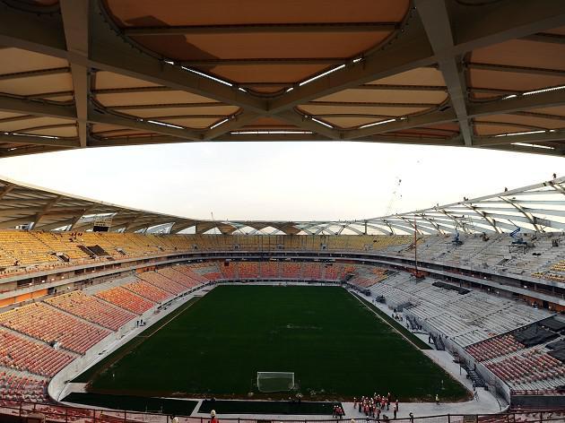Stadium work partially suspended