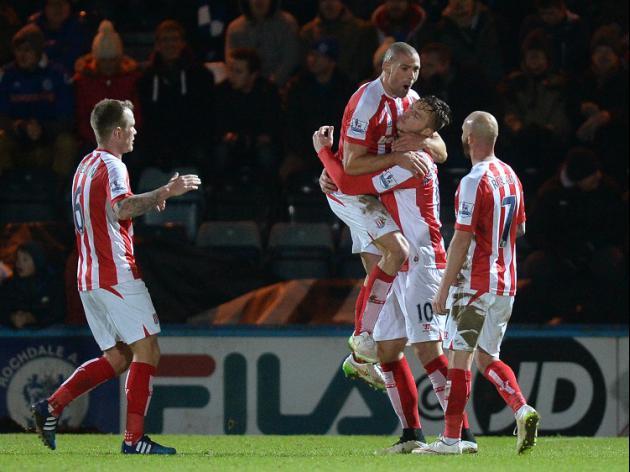 Rochdale 1-4 Stoke: Match Report