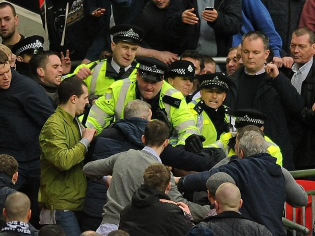 Police arrests linked to FA cup semi between Milwall v Wigan