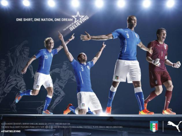 Puma unveil new Italian 2014 World Cup kit in time for Spain friendly