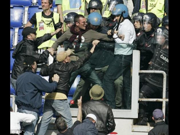 Rome derby marred by Ultras as British tourist has buttocks slashed
