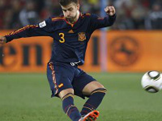 Pique expects close semi-final with Germany