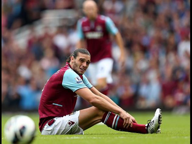 West Ham forward Carroll out for eight weeks