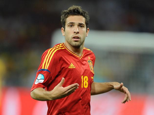 Alba double guides Spain to victory