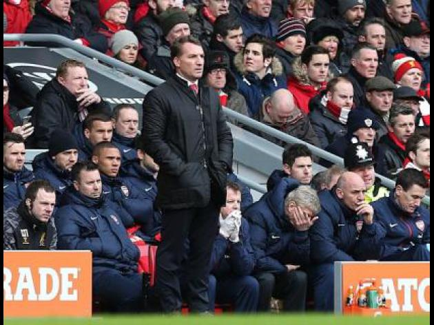 Rodgers cools title talk after Liverpool rout