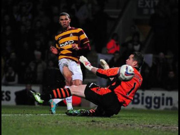 Bradford beat Villa in first-leg clash