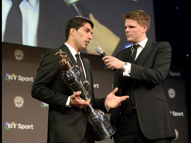 PFA award brings Liverpool's Suarez full circle