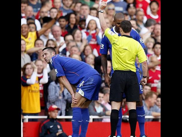 Gary Cahill loses red card appeal against red card at Arsenal