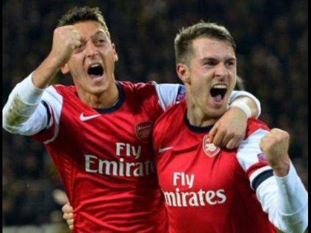 Arsenal blow group open after downing Dortmund
