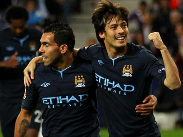 Red Bull Salzburg 0 Manchester City 2: David Silva and Jo score in Europa League win