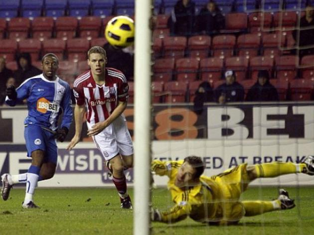 Wigan 2 Stoke 2: Latics left cursing their luck after Thomas horror miss