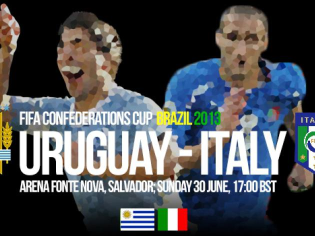 Uruguay V Italy: Confederations Cup 2013 - Match Preview
