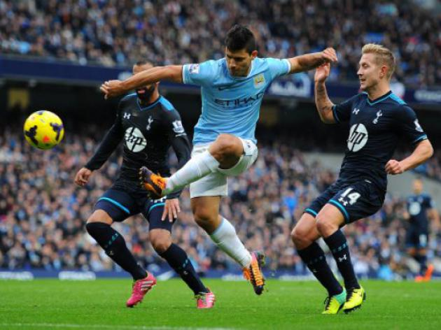 Sergio Aguero and Alvaro Negredo lay down a Manchester marker