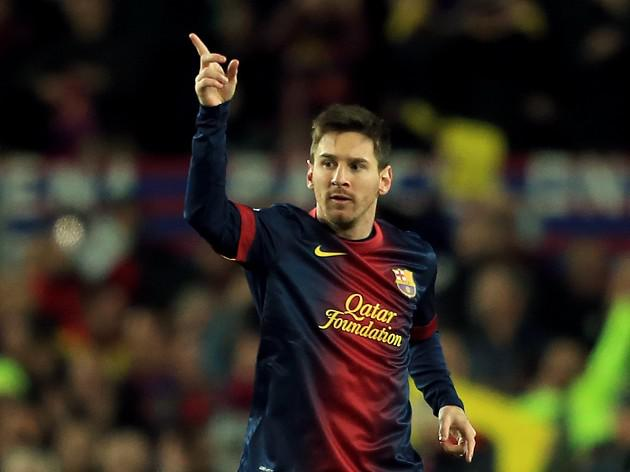 Messi powers Barca into last-eight