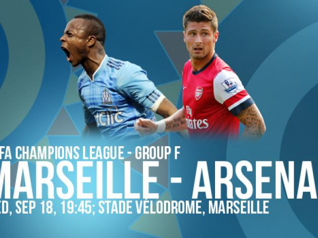 Marseille vs. Arsenal: UEFA Champions League Match Preview