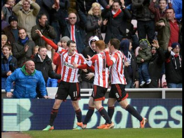 Sunderland fight back to earn draw