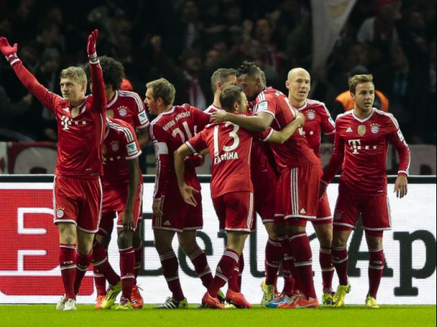 Bayerns Guardiola eyes treble with league secured